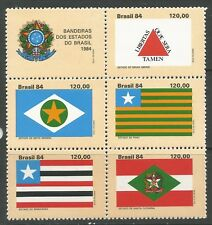 STAMPS-BRAZIL. 1984. State Flags (4th Series) Set. SG: 2113a. Mint Never Hinged.