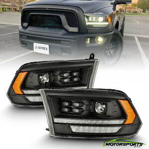 For 09-18 Dodge Ram 1500/2500/3500 DRL Sequential Signal Projector Headlights