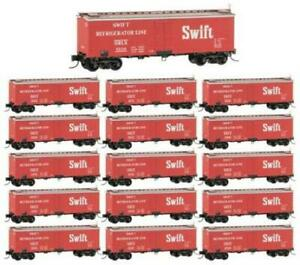 Micro-Trains Line 993 01 920 N, 36' Wood Sheathed Ice Reefer, 16-Pack, Swift