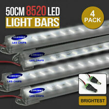 4X 12V Linkable Rigid Light Bar LED Strip Camping Waterproof Connector Combo Kit