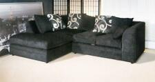 New Dylo Fabric Chenille Corner sofa and 3+2 seater Sofa in Black