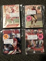 NFL San Francisco 49ers Team Sets 1991 1992 1993 Joe Montana Jerry Rice SEALED