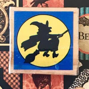 Flying Witch Moon Halloween broomstick spells witches october 31st moonlight