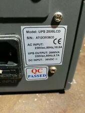 GRUPPO DI CONTINUITA' UPS 2000VA LCD CONN. PC RS232 (SENZA BATTERIE) FUNZIONANTE