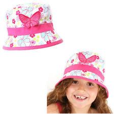 Girls Bush Hat Butterfly 100% Cotton Summer Hat New 55cm age 7-10