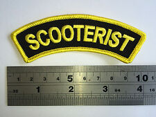 Scooterist Shoulder Flash (Yellow Border) Patch - Embroidered - Iron or Sew On
