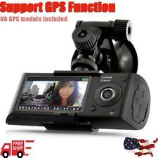"2.7"" Dual Lens LCD Vehicle Car DVR Camera Video Recorder Dash Cam G-Sensor GPS B"