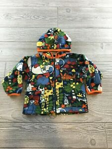 Patagonia Soft Fleece Full Zip Jacket Baby Toddler Size 24M Animal Pattern
