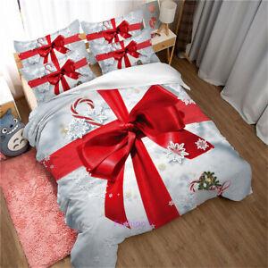 Christmas Gift Duvet Quilt Cover Set Queen/Double/Single/King Bed Linen