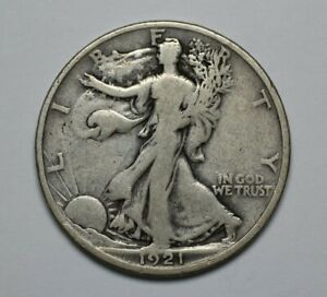 1921-D Walking Liberty 90% Silver Half Dollar - 170332A