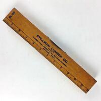 "Stillman Lumber Wood Level Tool 12"" No 203 Artmore Oklahoma Advertising Vtg Gift"