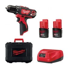 TRAPANO AVVITATORE MILWAUKEE 12V LITIO M12BDD-152C 2 BATTERIE VALIGIA