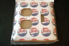"PEPSI-COLA W/BOTTLE CAPS NEW 4 3/4"" X 5"" RIGHT SWITCH/LEFT PLUGS SWITCH  PLATE"