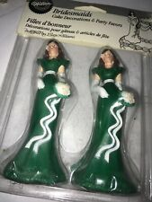 Vintage Wilton Bridesmaid Cake Toppers Wedding Green New 4 1/2 Inches