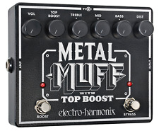 NEW Electro Harmonix EHX Metal Muff Distortion with Top Boost Guitar Pedal