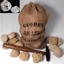 "20 Break Crack Open Your Own Whole Moroccan Geodes W/Gift Bag - 2"" Crystal Rocks"