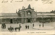 Carte LAON PLace de la Gare