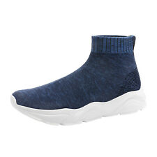Mens Slip on Athletic High Top Sock Sneakers Breathable Trainers Casual Shoes US