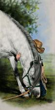 Little Vaquero by Lesley Harrison Horse Child Children Kids Cowboy Canvas 11x14