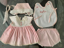 VINTAGE Lot CLOTHES for Medium TINY TEARS - DRESS Romper HAT Panty