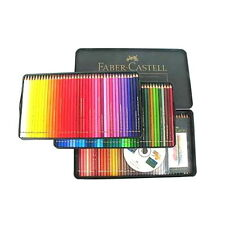 Faber Castell Polychromos Color Pencils Metal tin Set of 120 Artists + Free Gift