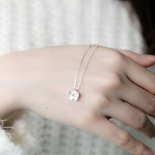 Women S925 Silver Cherry Blossom Necklace Small Flower Pendant Jewelry