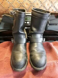 Red Wing Men's Motorcycle Boots, Size 9D, #988, Steel Toed