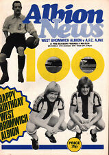 1979/80 West Bromwich Albion v Ajax, Centenary friendly, PERFECT CONDITION