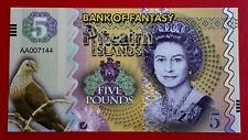 Billet île Pitcairn Islands Five Pounds 5 £ Reine Élisabeth II Polymère 2018