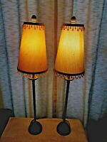 Pair of Vintage Beaded Shade Table Lamps
