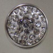 Crystal Rhinestone Flat 12mm Noosa Style Snap Button Chunk