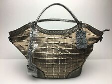 Marc Chantal Faux Leather Hand Bag w/Rhinstones New with Tags