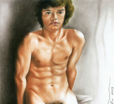 Male Nude Print Of Oil Painting - Young Man Posing - Naked Art By Artist Andreev