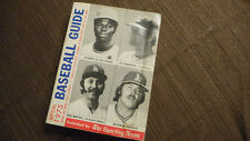 Sporting News 1975  Baseball Guide Lou Brock Catfish Hunter