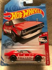HOT WHEELS NISSAN SKYLINE 2000 GT-R RED JAPANESE POLICE Drift Rescue HW Classic