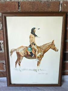 "Frederic Remington Framed Print ""A Cheyenne Buck"" 13-1/2"" x 18"""