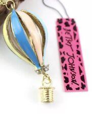 Betsey Johnson Necklace HOT AIR Balloon Gold Crystals