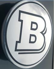 NEU 4x BRABUS Mercedes Benz Nabendeckel Nabenkappen AMG Silber Tuning Luxus 75mm