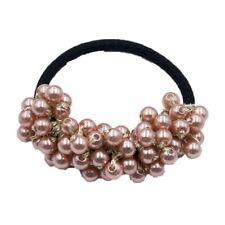 New listing Fashion Woman Big Pearl Hair Bands Fashion Korean Style Hair Ties Scrunchies