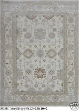 HAND KNOTTED 9x12 270x365 OUSHAK PERSIAN ORIENTAL AREA RUG WOOL CARPET ALFOMBRAS