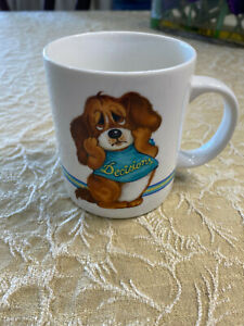 DECISIONS Wallace Berrie Animal Talk Series Vintage 1982 Coffee Mug Hound Dog