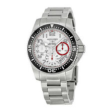 Longines HydroConquest Chronograph White Dial Stainless Steel Mens Watch