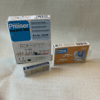 PREISER LOT OF 3 HO N SCALE SETS 17217 79163 31018 CHAIRS TABLES PEOPLE POLICE