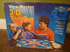 View Master 3 D Trivia Quiz Board Game 1984 NIB Reel Complete Vintage Slides