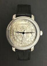 Personalized Genuine Morgan Silver Dollar Watch (1878 to 1921)