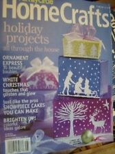 Family Circle Home Crafts Holiday 2003 Magazine Paper Crafts, Ornaments, Cakes