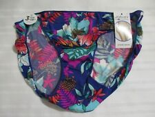 JOCKEY 7 STRING BIKINI 1330 TACTEL NO PANTY LINE PURPLE AQUA PINK FLORAL PANTIES