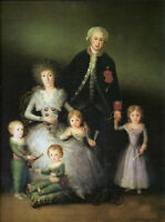 Art Oil painting Francisco de Goya - The Osuna's duck family portrait canvas 36""