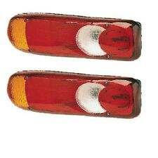 *Daf LF45 LF55 Rear Tail Light Footprint Eclipse Teardrop Len LH/RH BP90-105 X 2