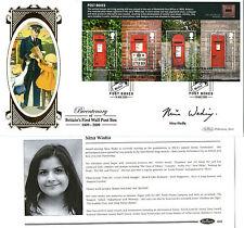 18 AUGUST 2009 POST BOXES M/SHEET SIGNED EASTENDERS NINA WADIA BENHAM FDC SHS